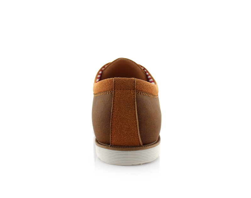 Brown Oxford Sneaker Work Shoes Polar Fox Men's Sneakers Angel Back View