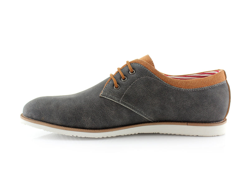 Gray Oxford Sneaker Work Shoes Polar Fox Men's Sneakers Angel Side View