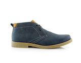 Men's Low Ankle Simple Design Shoes Blue Color Elliot Side View