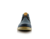 Men's Low Ankle Simple Design Shoes Blue Color Elliot Front View