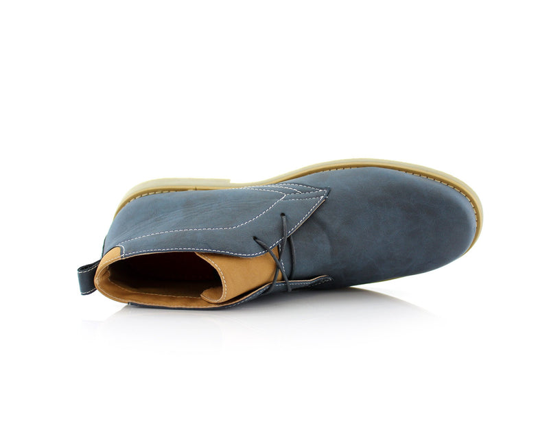 Men's Low Ankle Simple Design Shoes Blue Color Elliot Overlook View