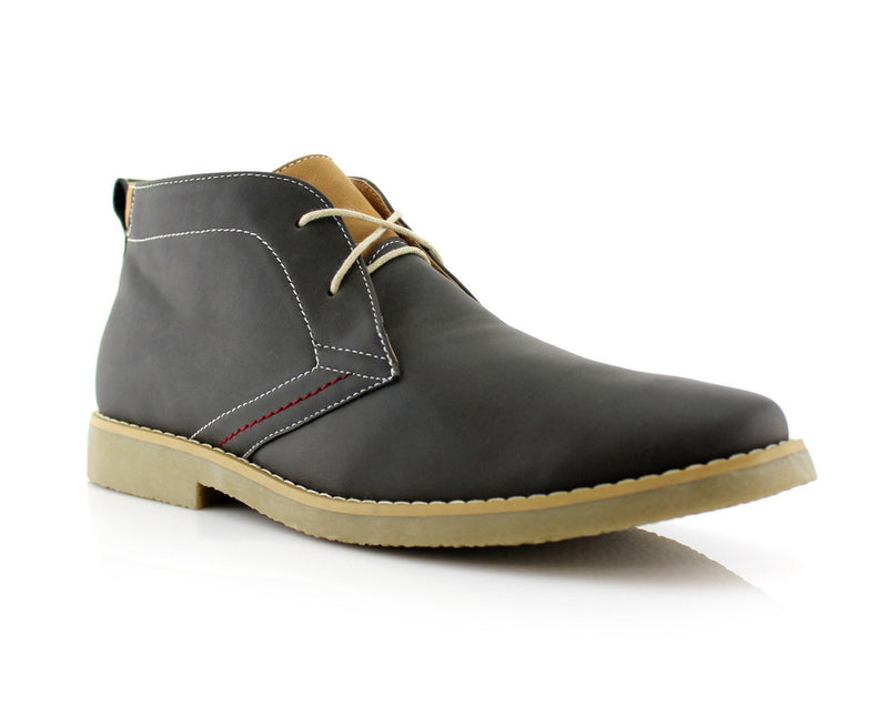 Moccasin Chukka Boots | Elliot  | Men's Low Ankle Simple Design Shoes | CONAL FOOTWEAR