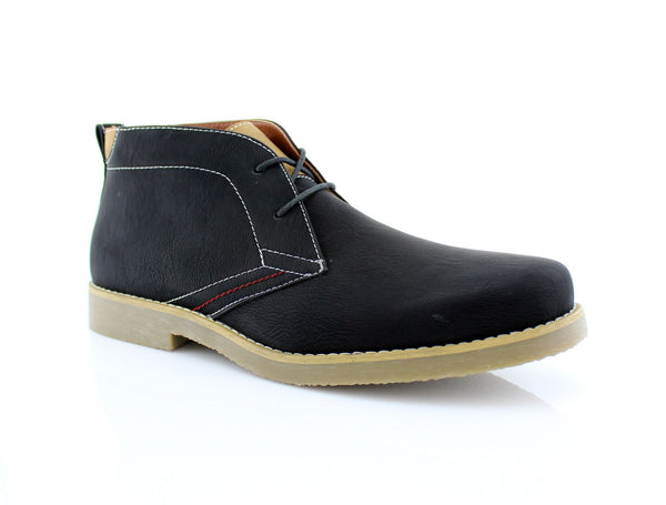 Men's Low Ankle Simple Design Shoes Black Color Elliot Side View