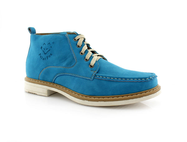 Sky Blue Moc-toe Heritage Boot For men