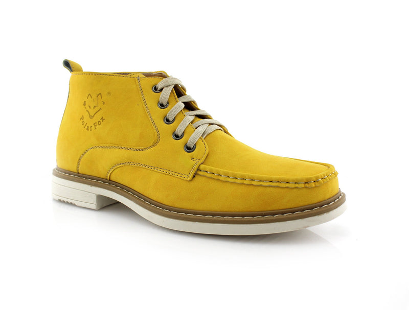 Yellow  Moc-toe Heritage Boot For men Side View