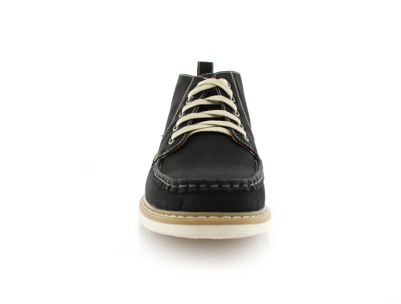 Black  Moc-toe Heritage Boot For men Front View