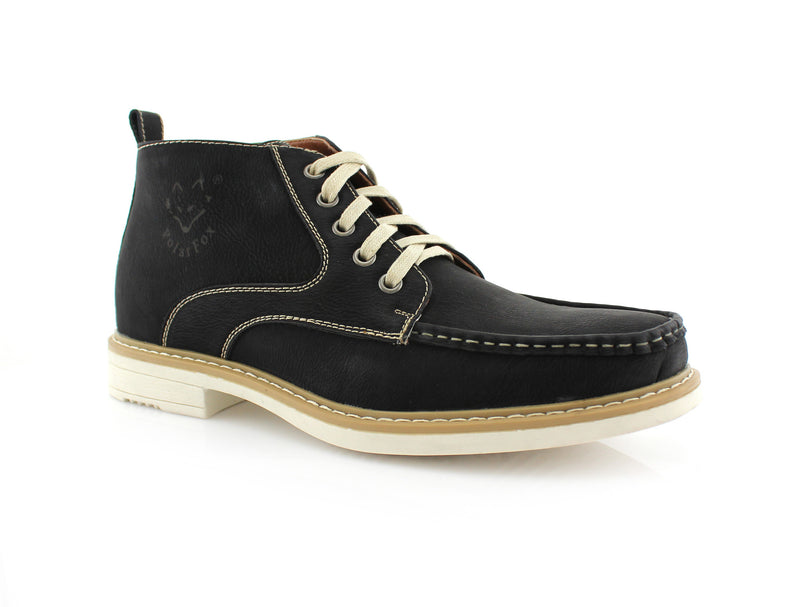 Black  Moc-toe Heritage Boot For men Side View