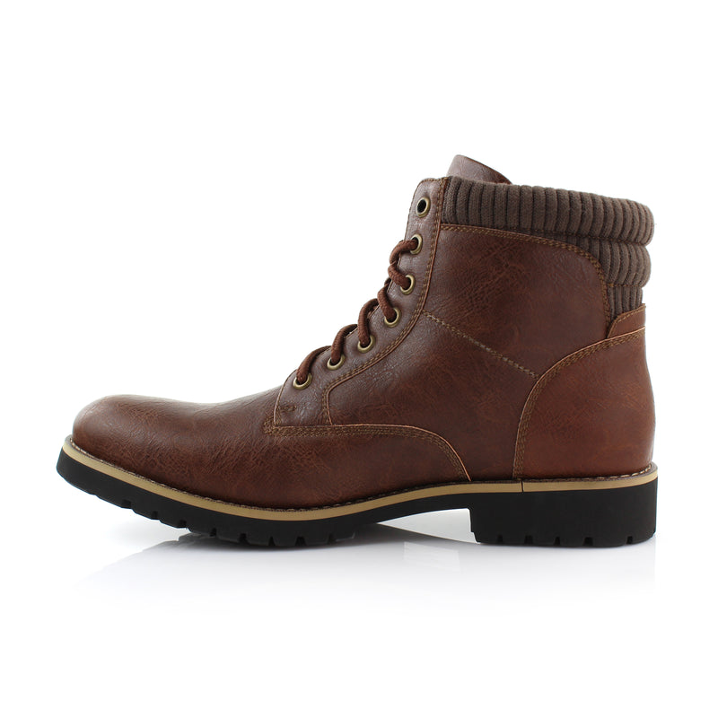 Brown Men's Casual Boots To Wear With Jeans Polar Fox Winter Side View
