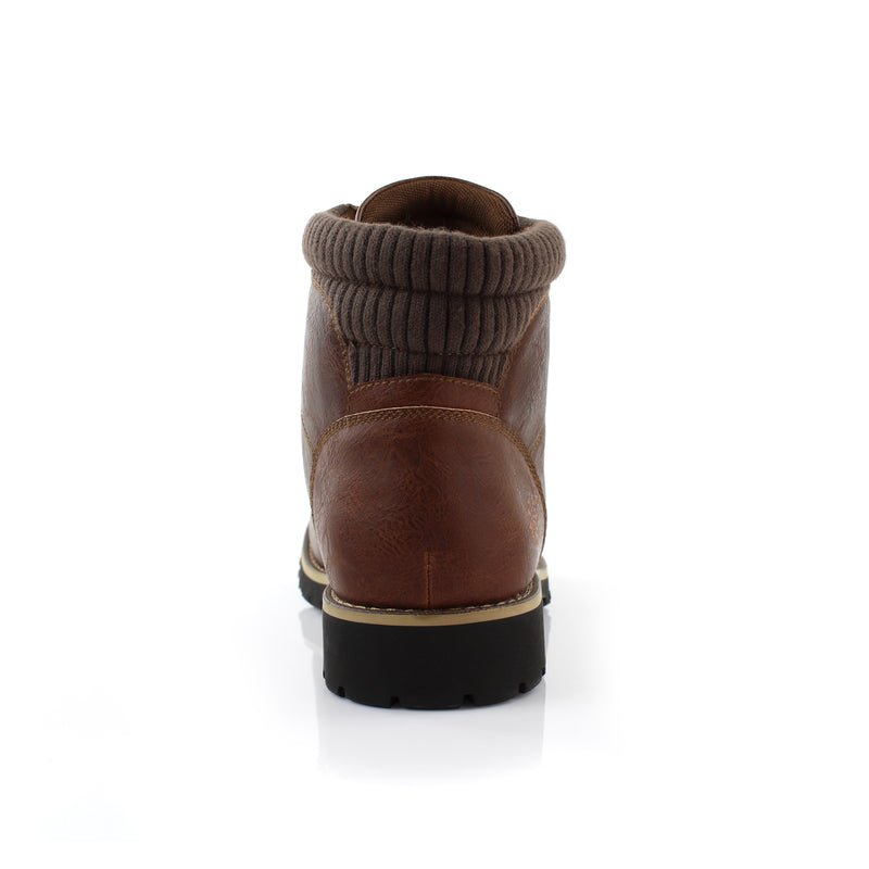 Brown Men's Casual Boots To Wear With Jeans Polar Fox Winter back View