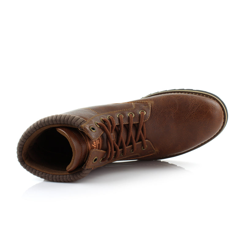 Brown Men's Casual Boots To Wear With Jeans Polar Fox Winter Top View