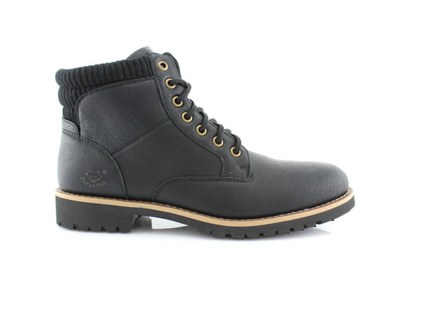 Black  Men's Casual Boots To Wear With Jeans Polar Fox Side View