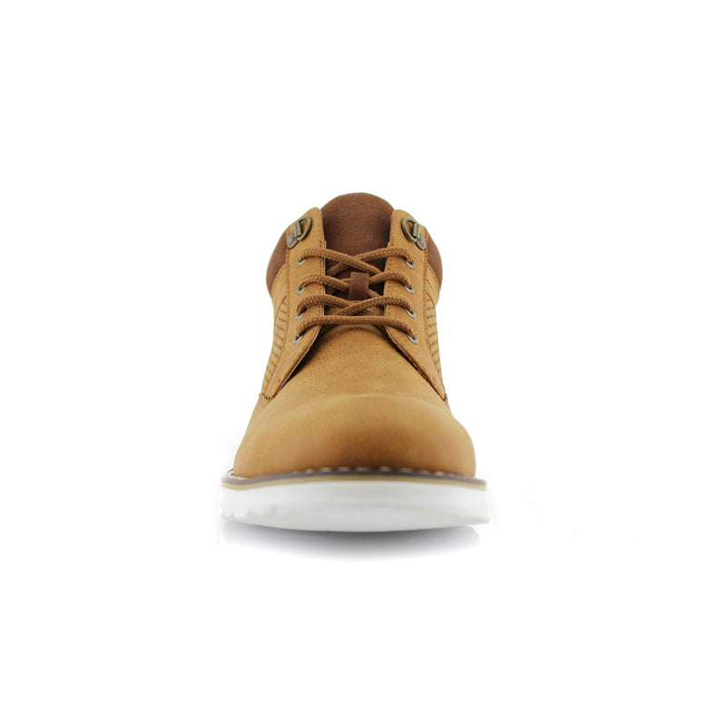 Desert Mens Memory Foam Chukka Sneakers Comfortable Shoes Front View