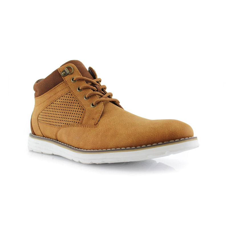 Desert Mens Memory Foam Chukka Sneakers Comfortable Shoes Side View