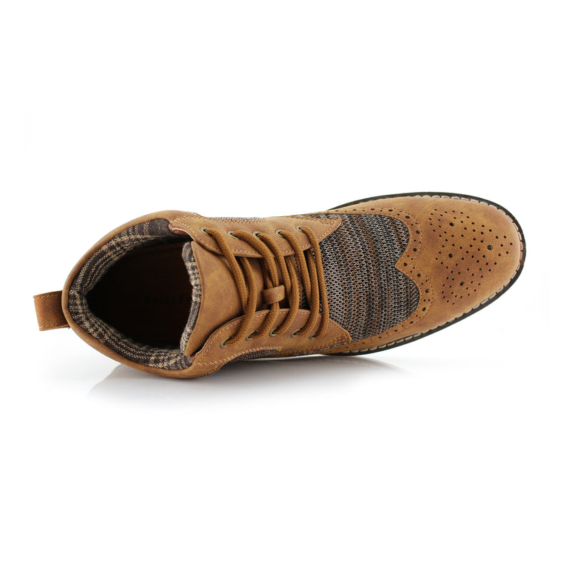 COLBERT by Polar Fox- Wingtip Knitted Suede Mid-Top Sneaker - CONAL FOOTWEAR Since 1983