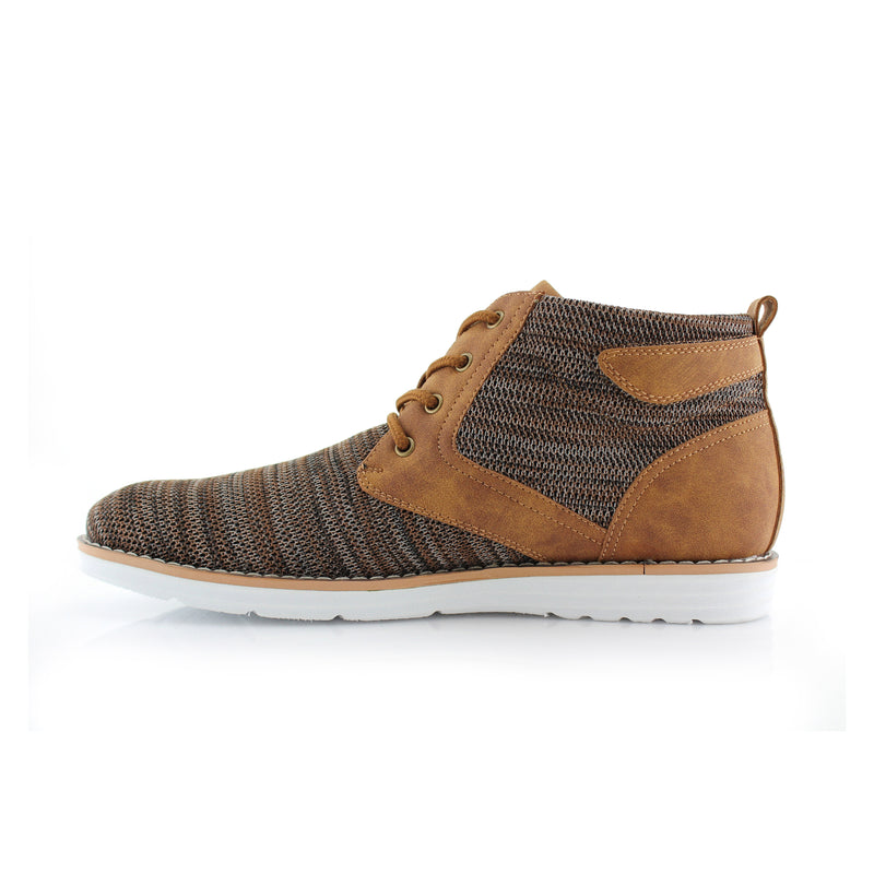 Brown Knitted Sneaker Boots Men Bohort Side