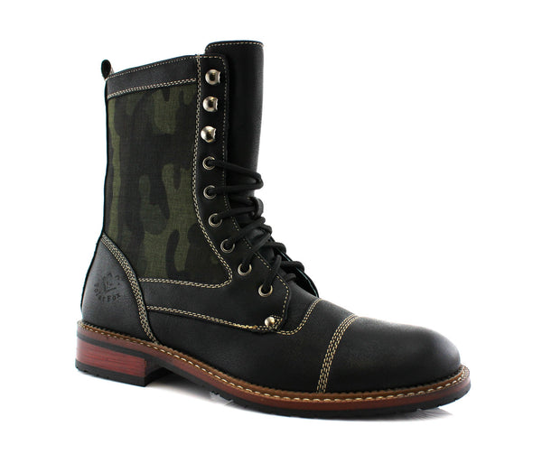 Polar Fox MILTON  Camouflage Black High Top Men's Boots