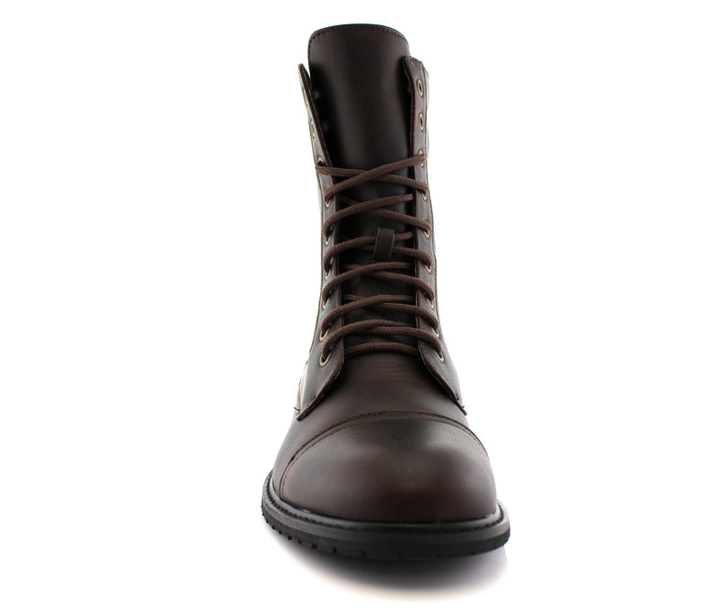 Dark Brown Classic Fashion Boots By Conal Footwear Front View