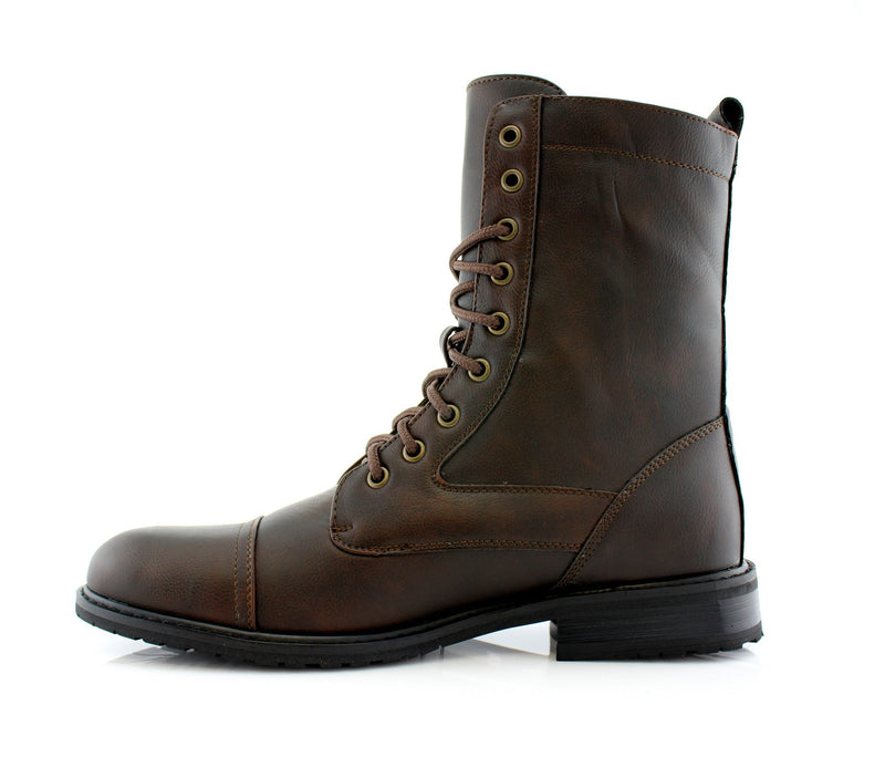 Dark Brown Classic Fashion Boots By Conal Footwear Side View