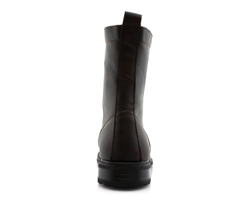 Dark Brown Classic Fashion Boots By Conal Footwear Back View