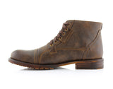 Brown Classic Motorcycle Combat Boots Ronny Side