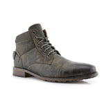 Polar Fox Mid Top Motorcycle Gray Boots Christopher Side View