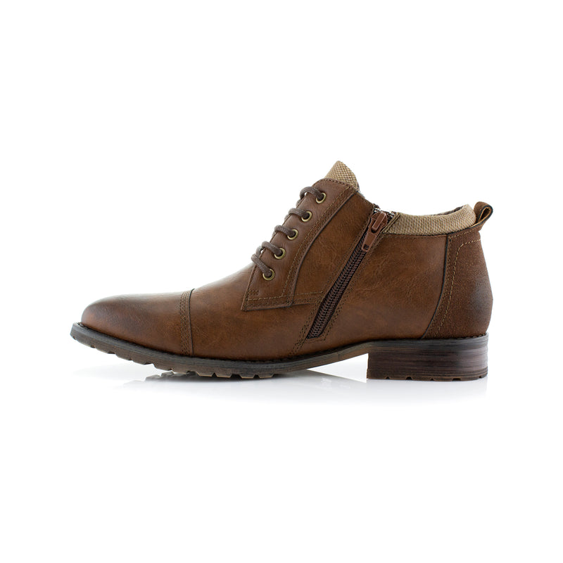 BRENTON by Polar Fox-  Classic Motorcycle Chukka Boots - CONAL FOOTWEAR Since 1983