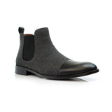 Black vegan leather chelsea boots primary image by Polar Fox Conal Footwear