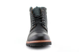 Mcconnell California Men's Designer Casual Black Boots Front View