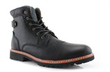 Mcconnell California Men's Designer Casual Black Boots Side View