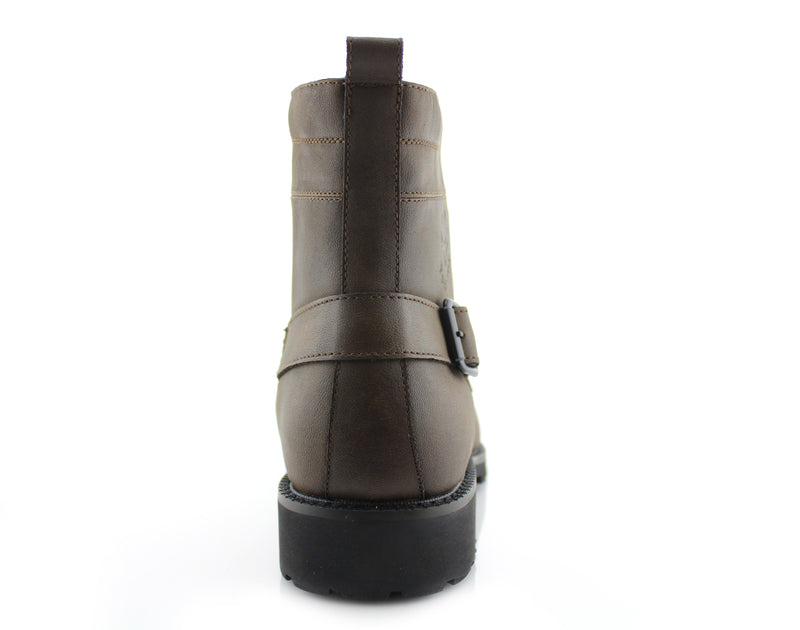 Men's Fashion 2020 Desert Motorcycle Combat Riding Boots Fabian Back