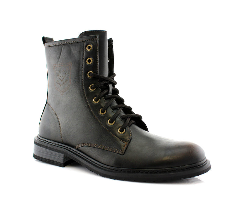 Best Motorcycle Gray Casual Wear Ankle Boots Sawyer Side View