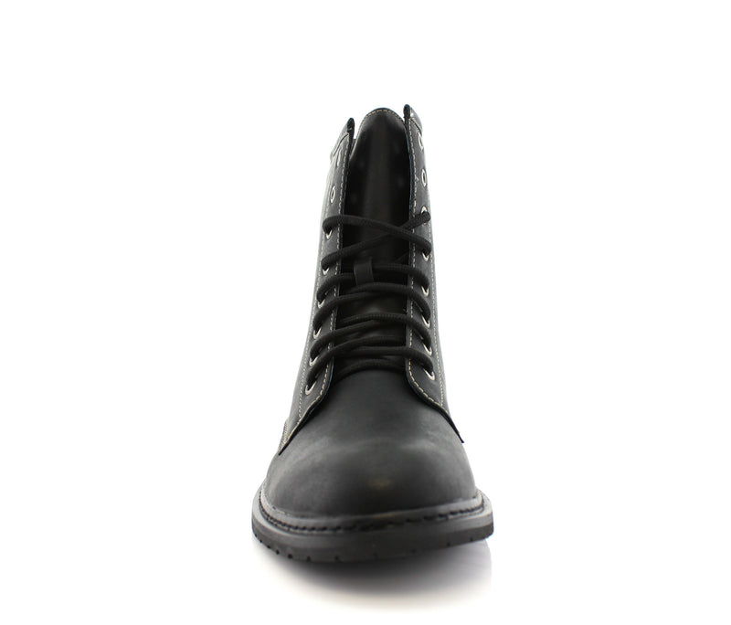 Best Motorcycle Black Casual Wear Ankle Boots Sawyer Front View
