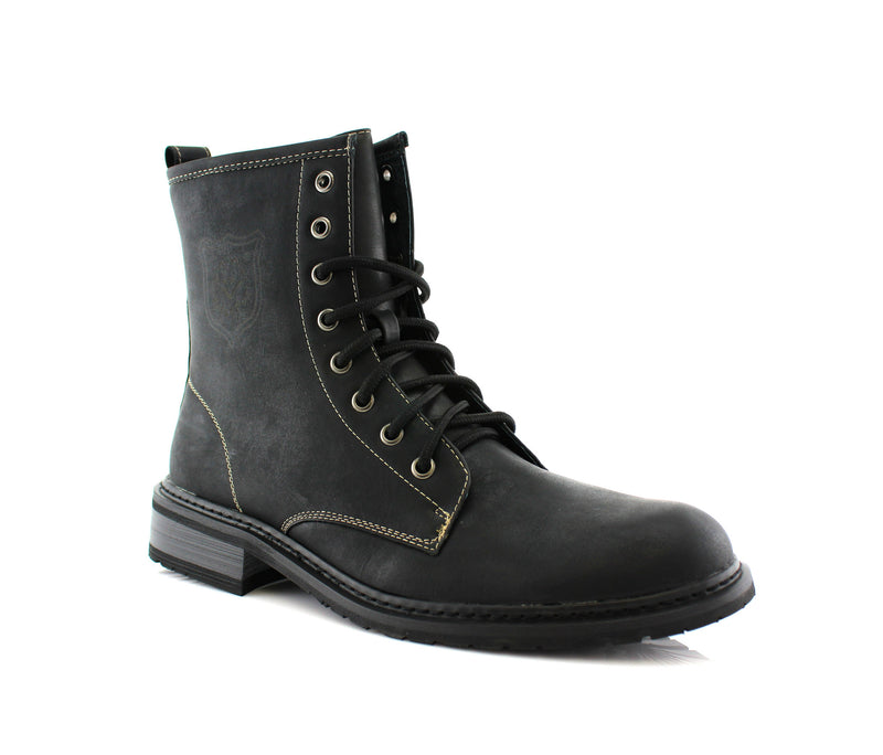 Best Motorcycle Black Casual Wear Ankle Boots Sawyer Side View