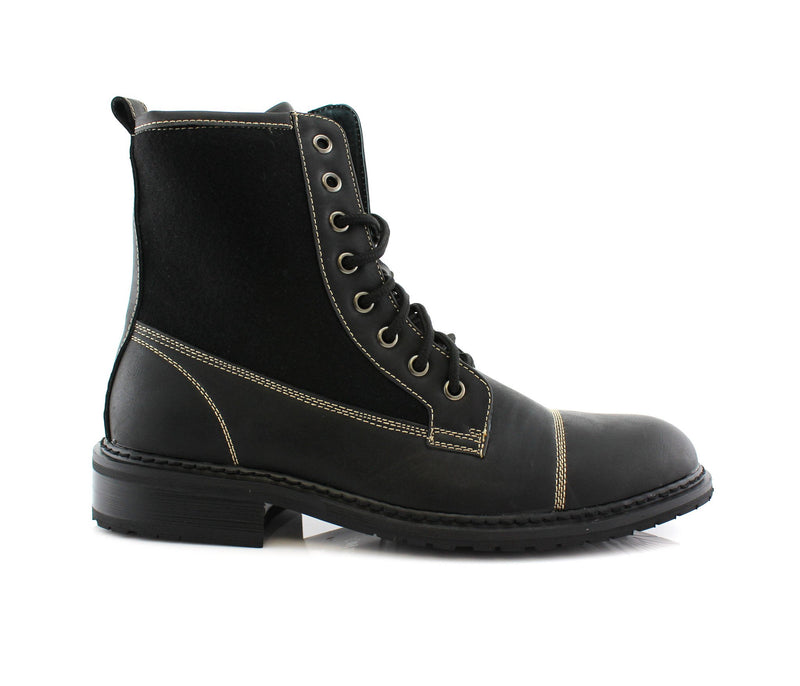 Black Casual Boots To Wear With Jeans Side View