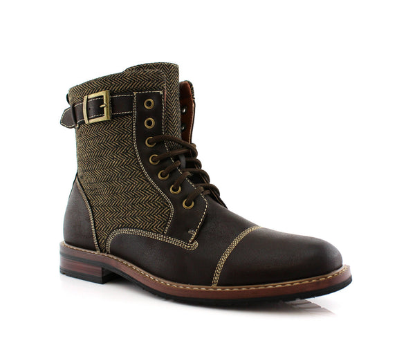 Rugged & Resilient Boots For Men Brown Side View