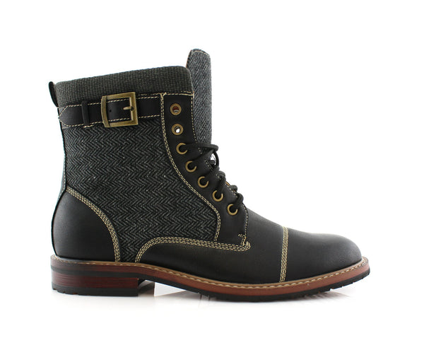 Rugged & Resilient Boots For Men Black Side View