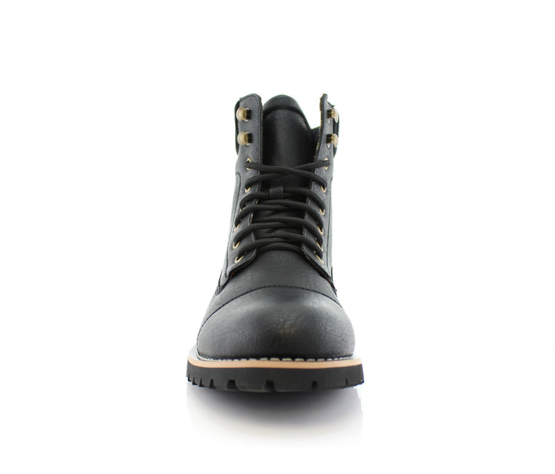 Black Fashion Boots And Shoes For Men's Jeans Wilson Front View