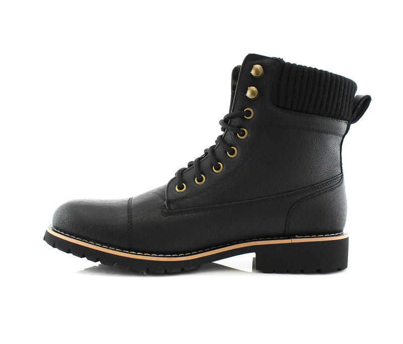 Black Fashion Boots And Shoes For Men's Jeans Wilson Side View