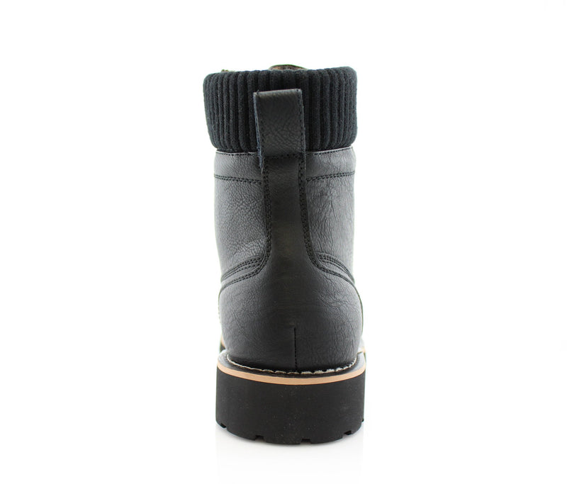 Black Fashion Boots And Shoes For Men's Jeans Wilson Back View