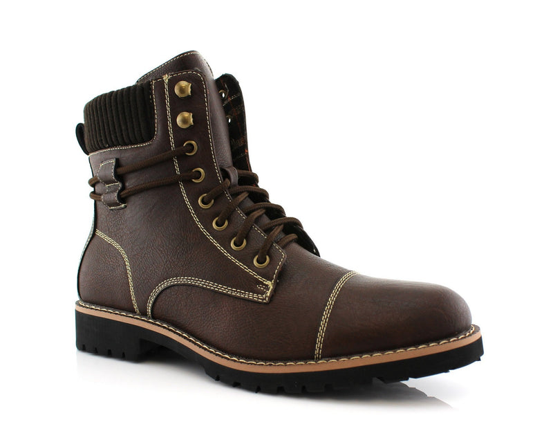 Men's Outfit Ideas | Nicholas | Men's Synthetic Leather Hiking Boots | CONAL FOOTWEAR