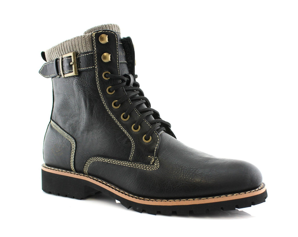 Men's Motorcycle Fashion Boot | Baldwin | Polar Fox Synthetic Leather Boots | CONAL FOOTWEAR