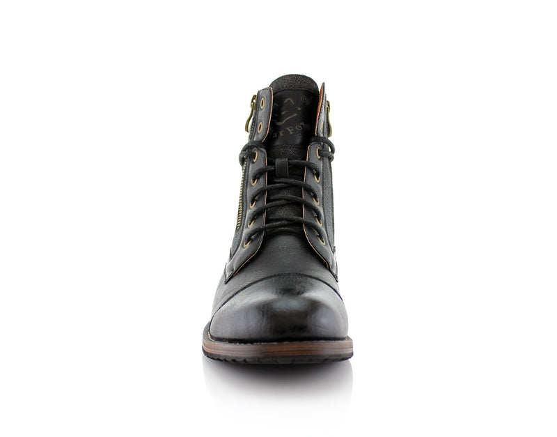 Men's Casual Black Boots To Wear With Jeans Kanye Front
