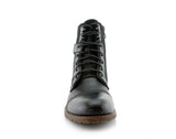 Black Polar Fox Men's Affordable Motorcycle Boots Front View
