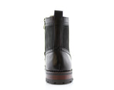 Black Full Brogues High Top Boots Cohen Back