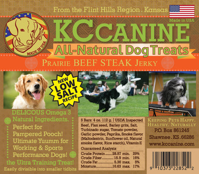 Prairie Beef Soft Jerky Dog Training Bars 4 oz Made in USA