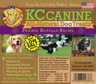 Prairie Buffalo Soft Jerky Dog Training Bars 4 oz USA