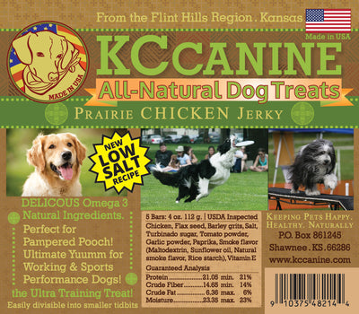 Prairie Chicken Soft Jerky Dog Training Bars 4oz USA