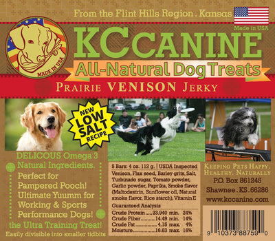 Prairie Venison Soft Jerky Dog Training Bars 4 oz USA