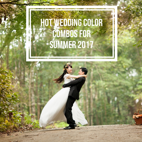The hottest wedding color combos for this summer