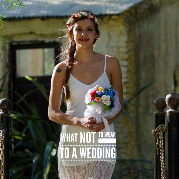 Four things you shouldn't wear to a wedding